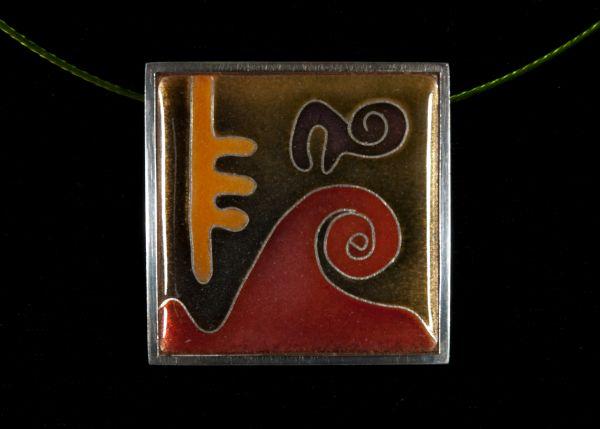 Émail sur cuivre : Bijou
