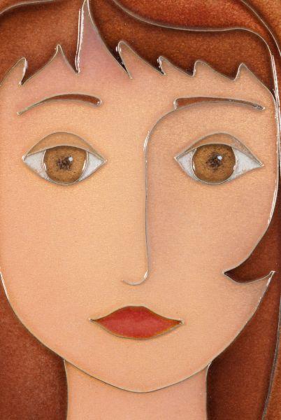 Émail sur cuivre : Autoportrait